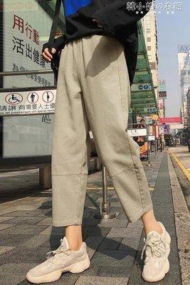 ZIHOPE 2019春秋新款哈倫褲女寬鬆韓版休閒學生直筒蘿卜九分奶奶老爹褲子ZI812