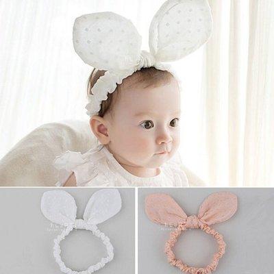 【可愛村】兒童兔耳髮帶 韓國棉感大兔耳...