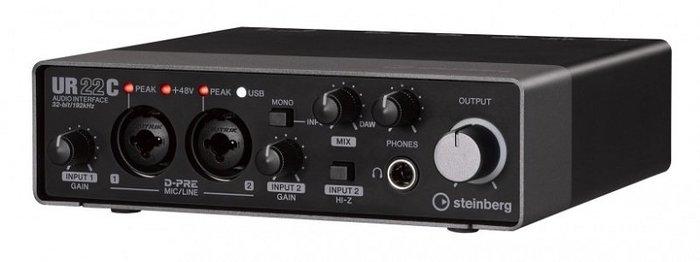 造韻樂器音響- JU-MUSIC - 全新 steinberg UR22C 錄音介面 USB Type-C