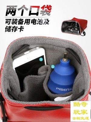 可愛數碼攝影5d4單反m100微單電池收納袋防水佳能m6相機包g7x2便【酷奇玩家】