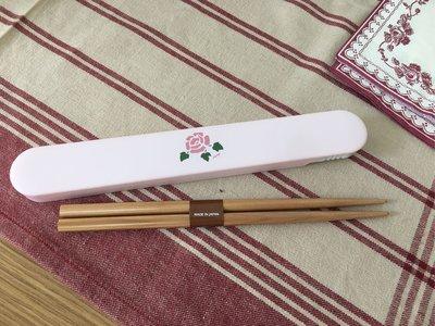 鄉村童話 Many 玫瑰 隨身筷 環保筷 日本製