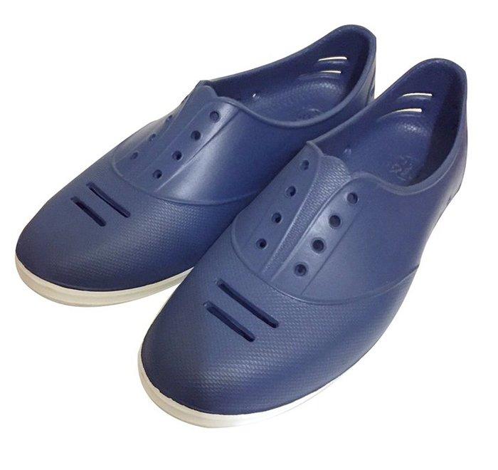 二手!深藍色塑膠便鞋/休閒鞋33-34碼*1雙