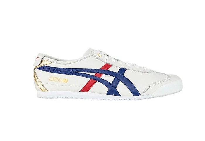 沃皮斯§ASICS Onitsuka Tiger MEXICO 66 白藍紅 復古休閒鞋 男女鞋 D507L-0152