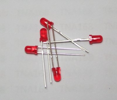 3MM 紅發紅 (1元2個) 高亮 發光管 LED 發光二極體