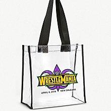 (預購)WWE Wrestlemania 34 logo clear tote bag