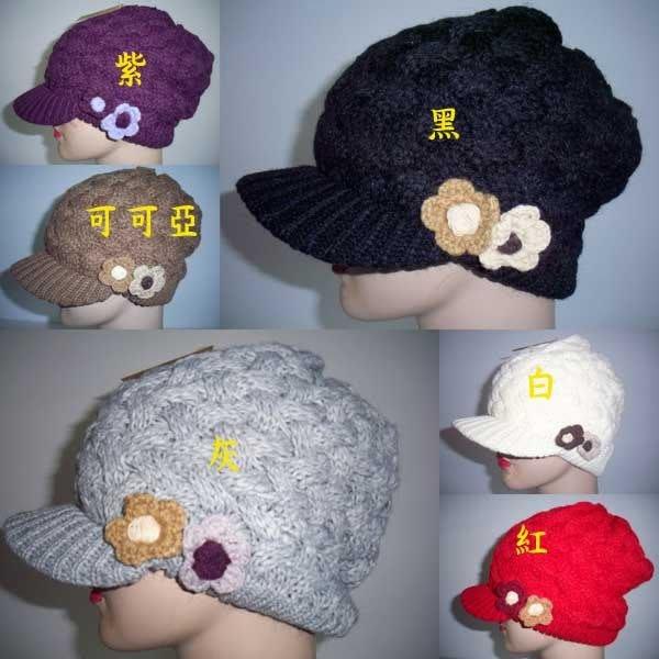 //阿寄帽舖// 雙花立體穿格紋 雙層毛線貝蕾帽 .阿哥哥帽!!