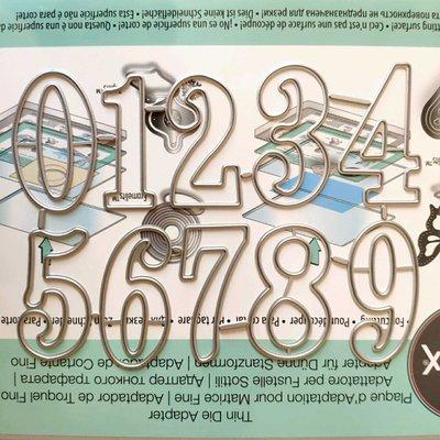 阿里家 scrapbook DIY相冊卡片薄板模具  數字 5cm高 19056