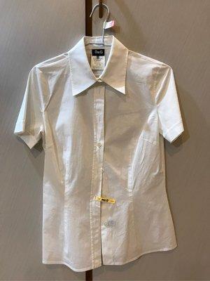 D&G二手義大利進口名品 短袖白襯衫42號