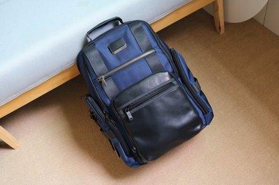 正品新款TUMi 232389NVY15寸男士商務休閑電腦雙肩背包