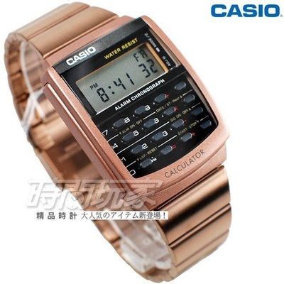 CASIO CALCULATOR系列 計算機 兩地時間 多功能 電子錶 褐色IP CA-506C-5A【時間玩家】