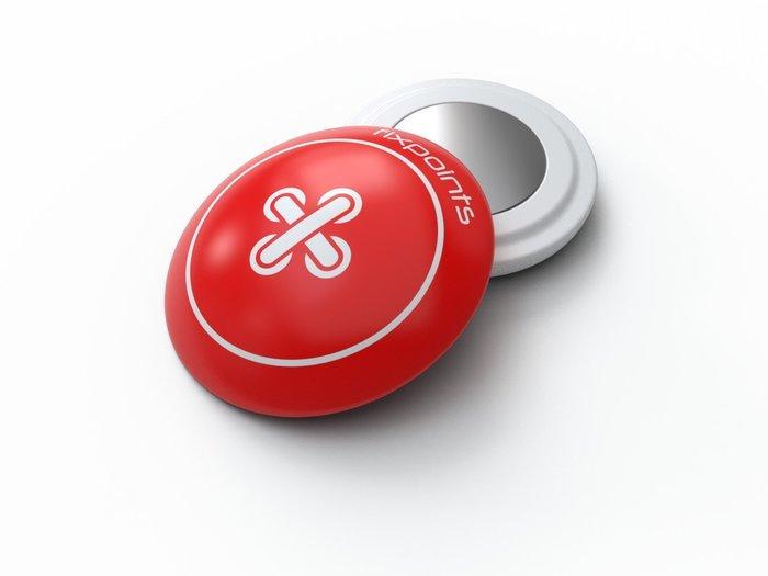 紅色鈕扣-德國騛點/fixpoints號碼布磁扣(1組四顆),不讓別針勾壞衣服布料.簡單,快速,安全.共15種款式