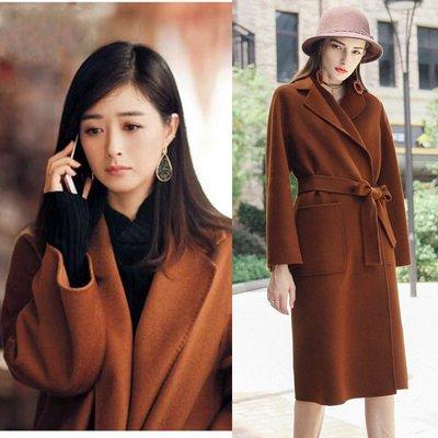 'OVERCOAT'秋冬新款手工毛呢大衣外套女士外貿雙面羊毛大衣女裝