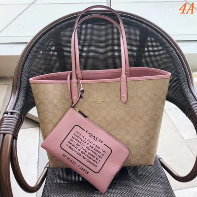 Coach/蔻馳新款36658 專櫃品質 子母購物袋 雙面包32*28*14.5