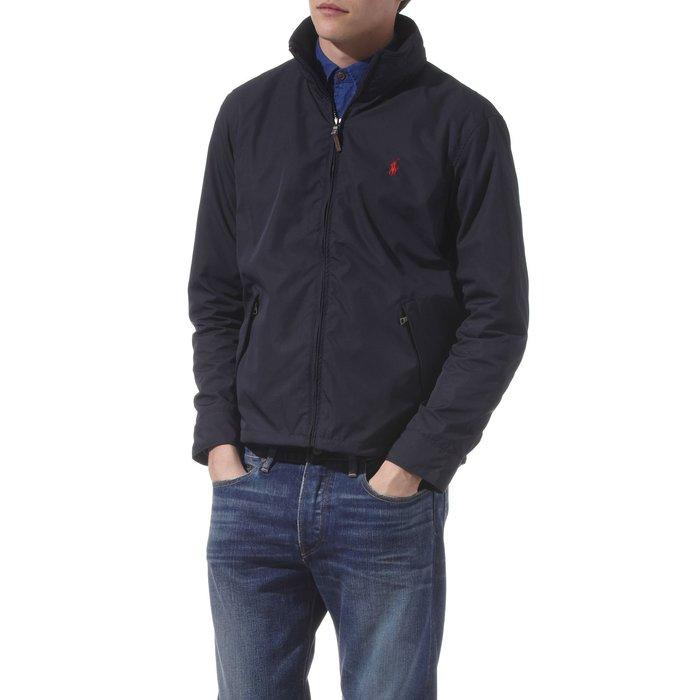 美國百分百【全新真品】Ralph Lauren 男款 立領夾克 連帽外套 RL polo 深藍 經典款 小馬 B593