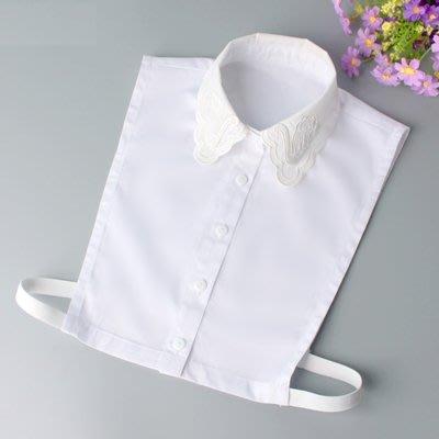 假領子 襯衫 領片-純棉天鵝刺繡花邊女裝配件73va23[獨家進口][米蘭精品]