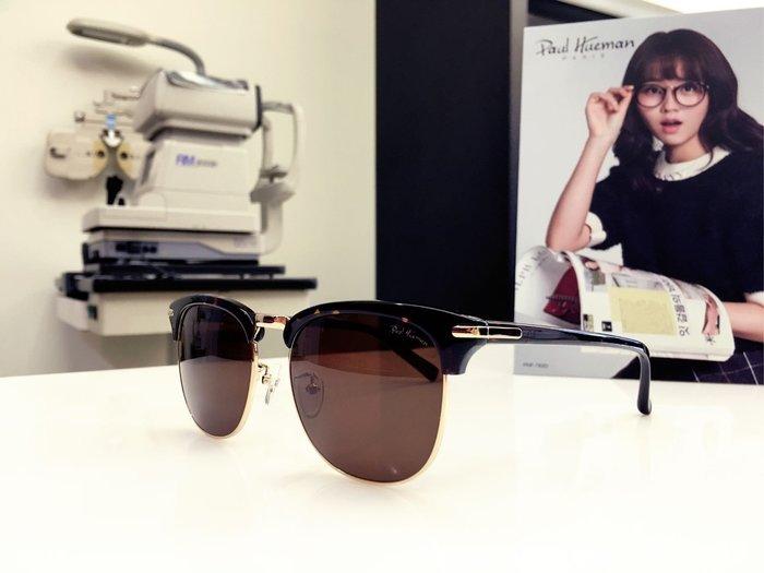 Paul Hueman 韓國熱銷品牌 眉框太陽眼鏡 文藝復古風兼具創新的質感設計 PHS1080A 1080