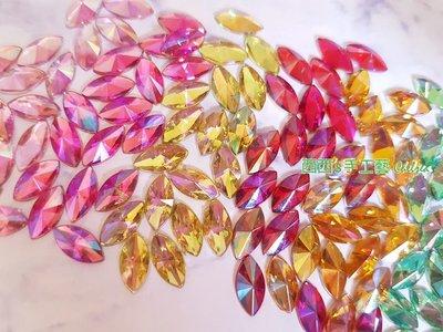 西西s手工藝材料 30745-水鑽-尖面馬眼10mm(約18顆) 飾品配件 網美拍照 文創設計 兒童DIY  滿額免運