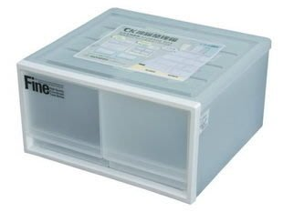 315百貨~日系風格~聯府 CK72 CK-72 雙抽屜整理箱(白)*4入組 /收納箱/整理箱/置物箱/單層櫃