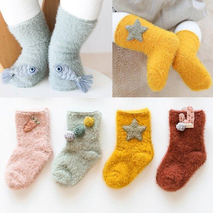 【小阿霏】加厚寶寶襪 雕絨紗保暖立體公仔嬰兒襪 1-3Y專屬冬天必備襪子PA317