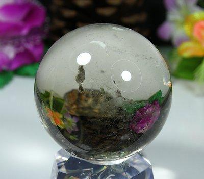 孟宸水晶 = A9004  (100%天然超清透茶水晶球485克)