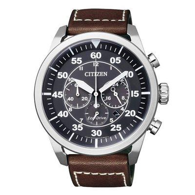 CITIZEN-Eco-Drive-時尚復古三眼計時光動能腕錶(黑-44mm-CA4210-16E)現貨 新北市