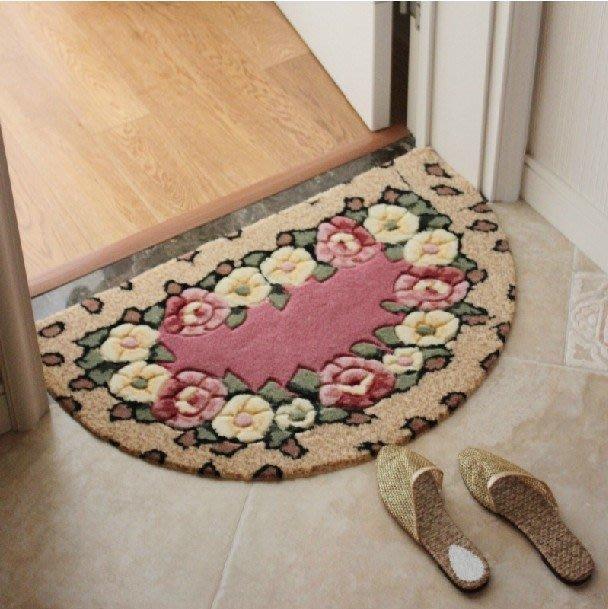 半圓吸水地墊門墊臥室廚房衛生間門口腳墊進門小地毯浴室防滑墊子