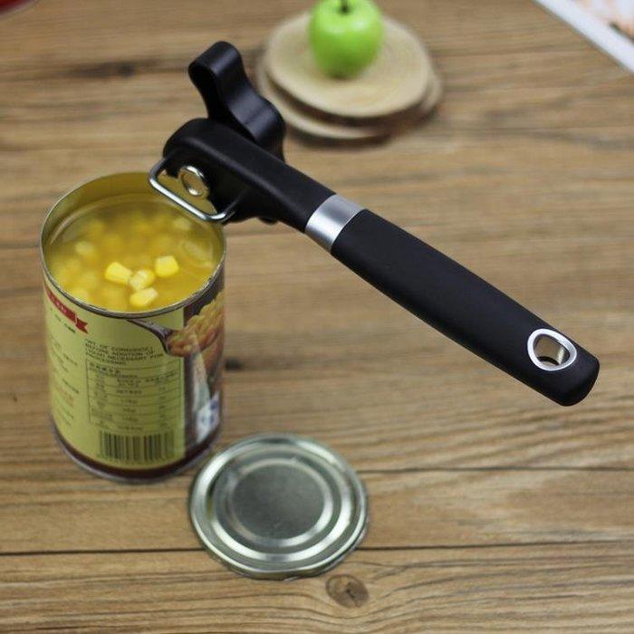 鐵皮罐頭開罐器 不銹鋼頭 安全簡易開瓶器 水果罐頭刀瓶起子工具