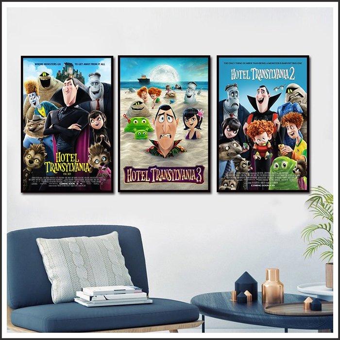 日本製畫布 電影海報 尖叫旅社 Hotel Transylvania 掛畫 嵌框畫 @Movie PoP 賣場多款海報~