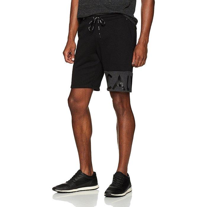 美國百分百【全新真品】Calvin Klein 短褲 CK 休閒褲 褲子 棉褲 運動褲 棉質 logo 黑色 I530
