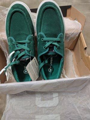 『BAN'S SHOP』Converse 麂皮 帆船鞋(綠) 全新  男女皆可 中性鞋款 US 8.5(男) US 10 (女)  EUR 42