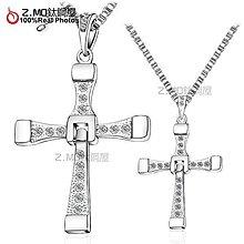 情侶對鍊 Z.MO鈦鋼屋 十字架對鍊  情侶項鍊 基督十字架 白鋼對鍊 玩命關頭 刻字對鍊【AJY001】單條價