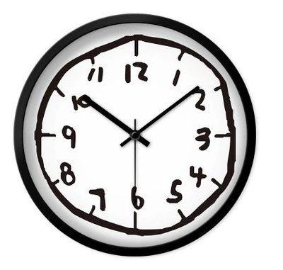 後現代藝術掛鐘($168包送貨)-30CM/靜音/ 現代簡約個性客廳大掛鐘 美式創意時尚家用時鐘