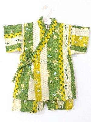 ✪胖達屋日貨✪ 褲款 160cm 綠底 直紋 青蛙 水波 日本 男 寶寶 兒童 和服 浴衣 甚平 抓周 收涎 攝影