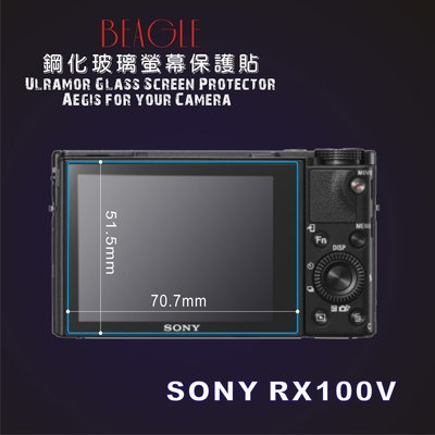 (BEAGLE)鋼化玻璃螢幕保護貼 SONY RX100 M5 專用-可觸控-抗指紋油汙-台灣製