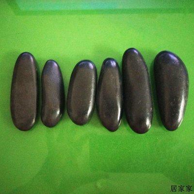 雨花石 底砂 砂石 造景 裝飾 長條形狀高光大小號黑色純天然鵝卵石雨花石石頭魚缸石裝飾石
