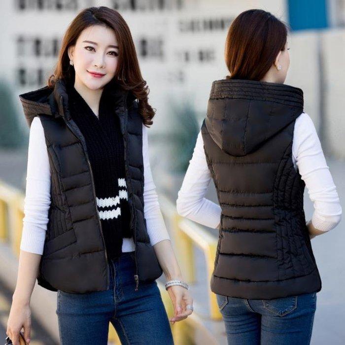 羽絨棉馬甲女短款2018韓版新款秋冬季加厚背心修身顯瘦坎肩外套