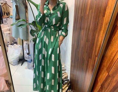 【吊帶褲小姐】韓國連線 韓國官網 東大門 春夏新品 現貨一件 方塊配色洋裝  綠 M0409