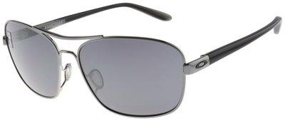 Oakley女士避難所太陽眼鏡OO4116-02 Gunmetal  黑色銥鏡頭
