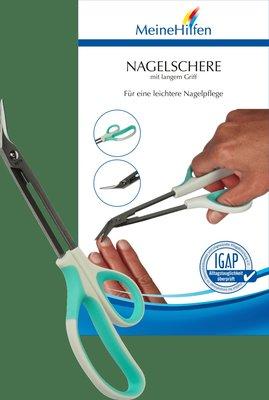德國 Meine Hilfen 護理級人體工學斜角長型指甲剪刀安全剪刀指甲剪省力指甲刀