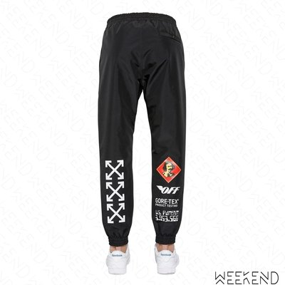 【WEEKEND】 OFF WHITE Product Testing Gore-Tex材質 休閒 長褲 黑色 18秋冬