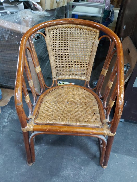 巨業搬運寄倉=更新二手倉庫 單人藤椅 單人沙發