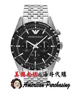 美國大媽代購 EMPORIO ARMANI AR5988 時尚精品 計時圈設計 三眼計時手錶 男錶女錶  歐美代購