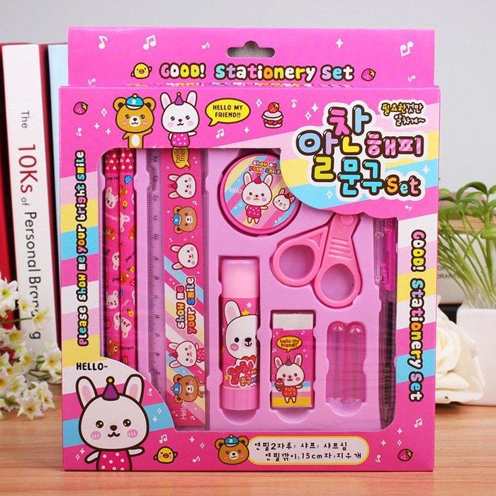 現貨 韓國創意兒童文具套裝 10組套裝 可愛兒童獎品 禮品 禮物 交換禮物 文具