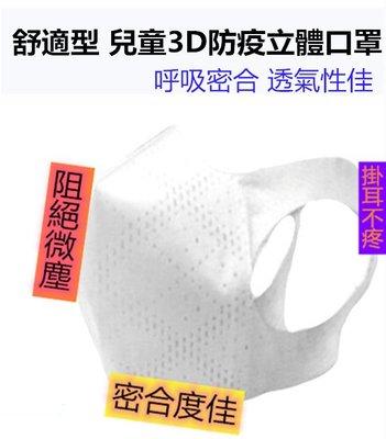 [兒童3D立體口罩] [一日出貨][日本暢銷]3D立體薄型口罩 熔噴布 不漏水 台灣製 [掛耳不疼]