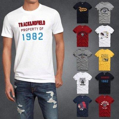 Abercrombie Fitch af 男款純棉 Logo 圖案 圓領T 男個性 短袖T恤