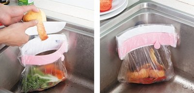 【阿LIN】177294 水槽垃圾袋夾...