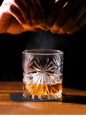 古典雕花威士忌杯  冰球杯烈酒杯 刻花雞尾酒杯 洋酒杯水晶玻璃杯 確幸