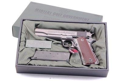 JHS((金和勝 生存遊戲專賣))日製 MARUI M1911A1 COLT GOVERNMENT 瓦斯手槍 4542
