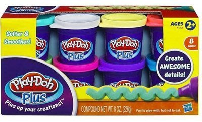 ☆天才老爸☆→《Play-Doh 培樂多 黏土》培樂多奶油花八色黏土組←補充包 露營 輕黏土 小麥黏土 美勞 才藝教室