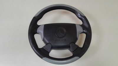 BENZ 正品 AMG C36 1997 W202 W210 E55 黑灰 (後期車) 跑車方向盤+安全器囊 變形蟲